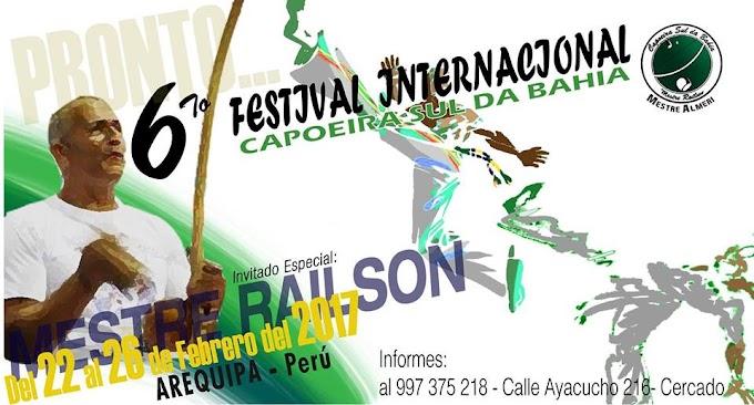 6to Festival Internacional de Capoeira Arequipa - del 22 al 26 de febrero