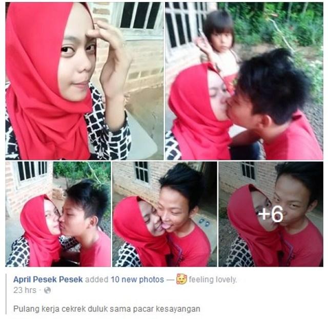 Gadis Berhijab Berkerududung Merah Lagi Di Hujat Oleh Pengguna Media Sosial ,KARENA .....