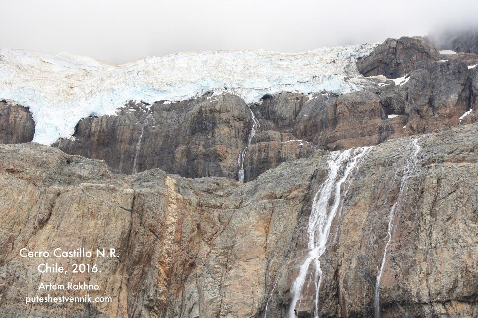 Ледник и водопад