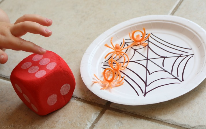 Counting Spiders Math Game