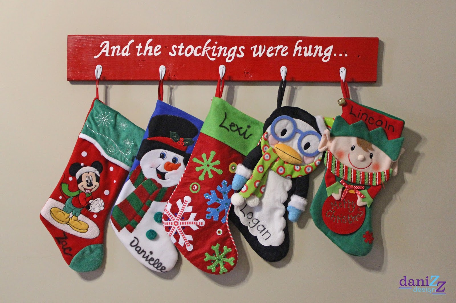 Bee Ing Mommy Blog Wood Stocking Holder
