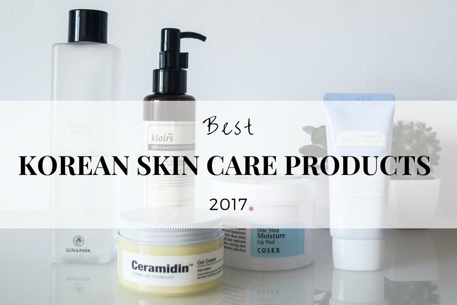 Top 5 productos favoritos 2017 de cosmética coreana