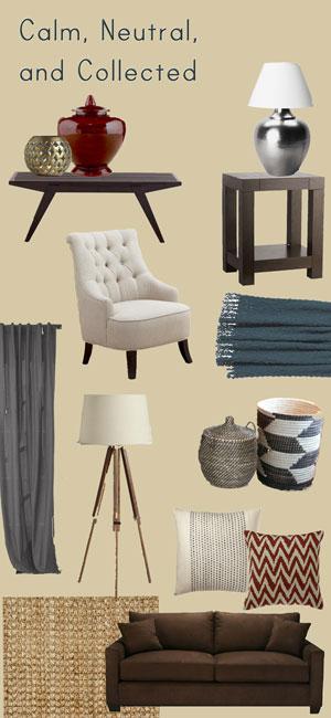 House Stuff Works Mood Board That Brown Sofa