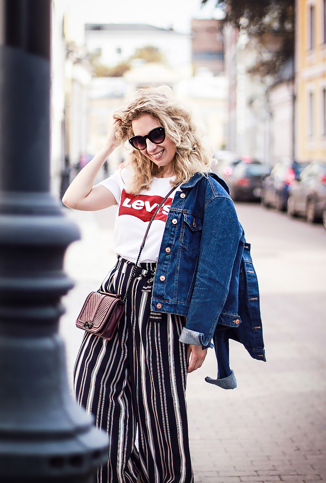 Rita_maslova_Levis_shirt_denim_jacket_zara_stryped_culottes_marsala_heels_russian_fashion_blogger_streetstyle