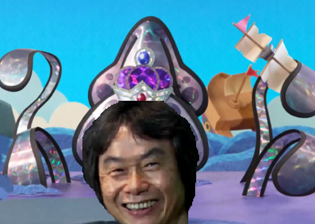 Gooper Blooper Shigeru Miyamoto Paper Mario Sticker Star boss