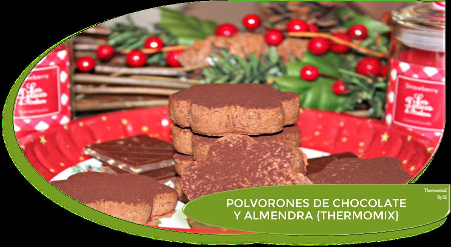 POLVORONES DE CHOCOLATE Y ALMENDRA {THERMOMIX}