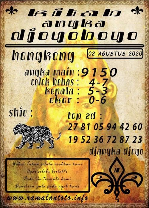 Kode syair Hongkong Minggu 2 Agustus 2020 244