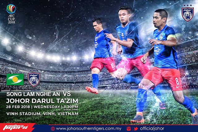 Live Streaming JDT vs SONG LAM NGHE AN F.C