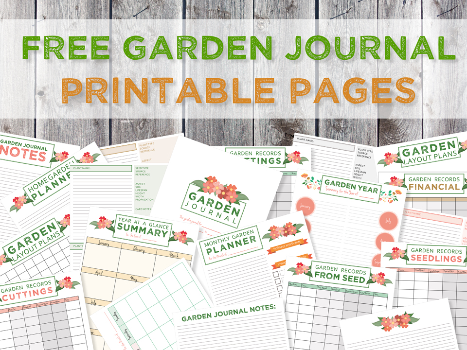 It is a graphic of Bright Free Printable Garden Journal