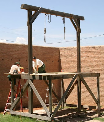 Erecting gallows - Pakistan has ended its moratorium on the death penalty after school attack.