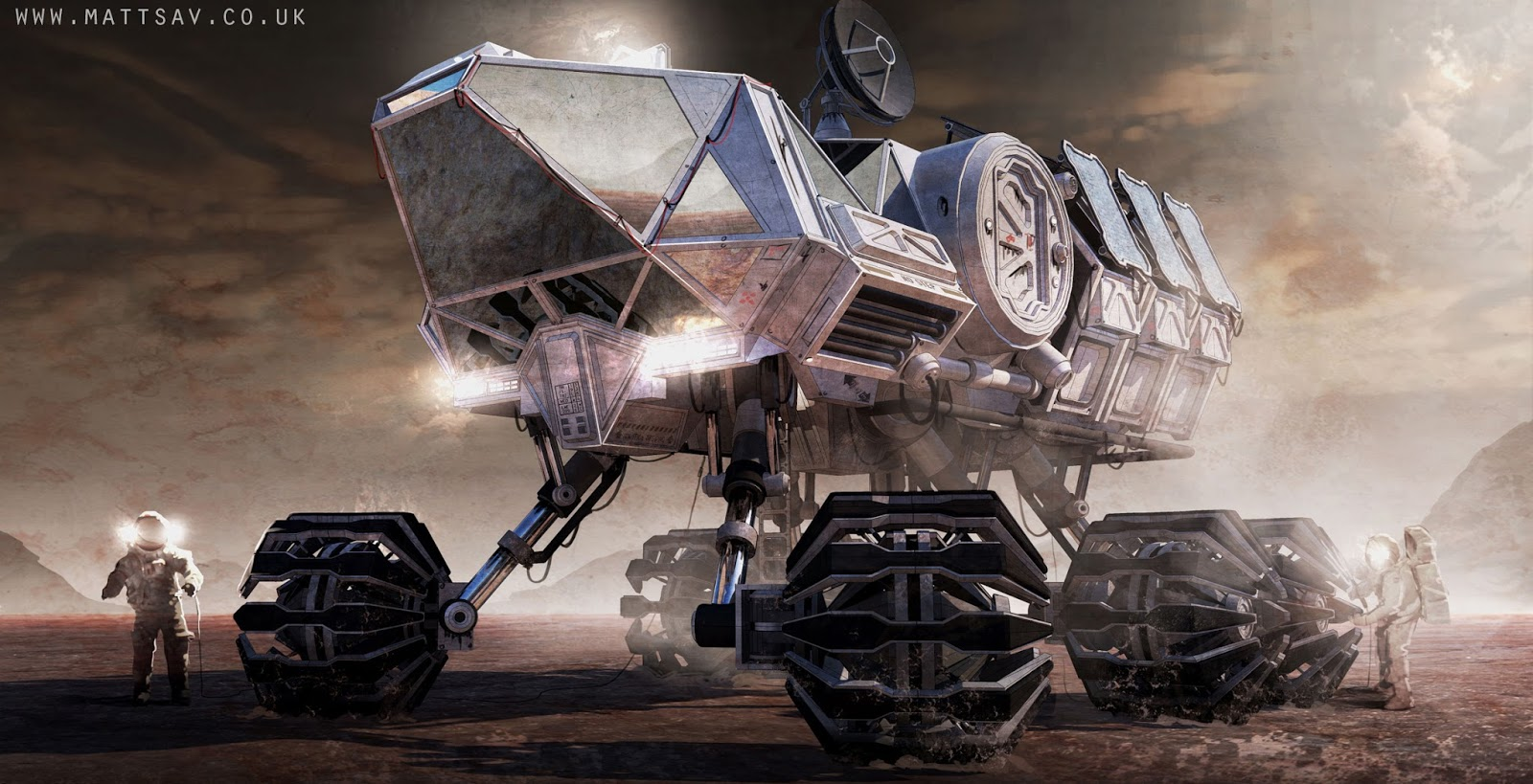 Mars exploration rover concept by Matthew Savage