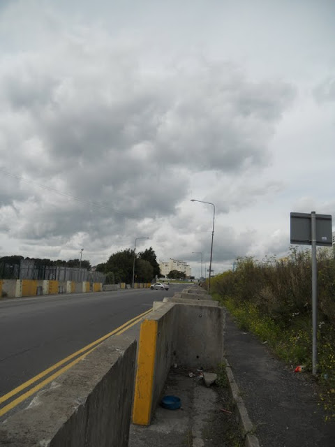 Road near Dublin's container port