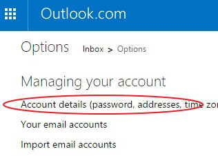 change-outlook-password