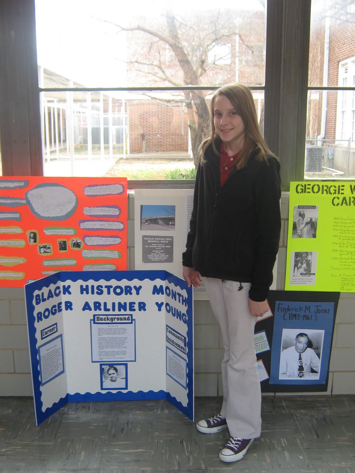 Zora Ellis Jr High Black History Projects