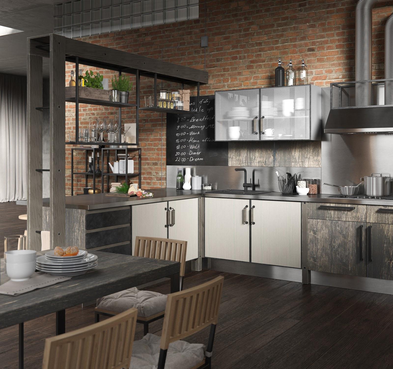 Kitchen Visualizer: 3D Visualization Kitchen For Giulia Novars