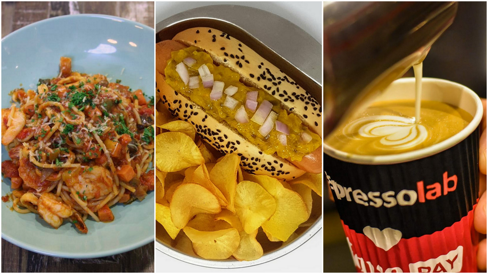 Maple Food Market: Happy Ele, Yoohoo Hot Dogs & Espressolab