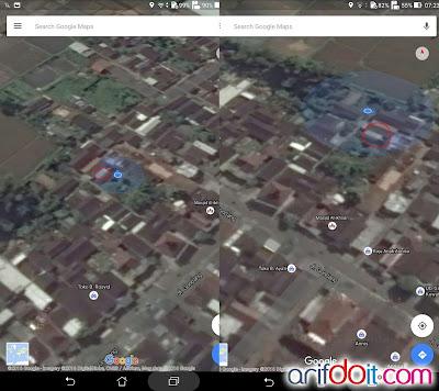 Akurasi GPS Asus Zenpad Z370CG dengan Google Maps
