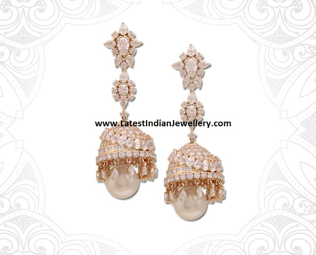 Artful Diamond Jhumkas