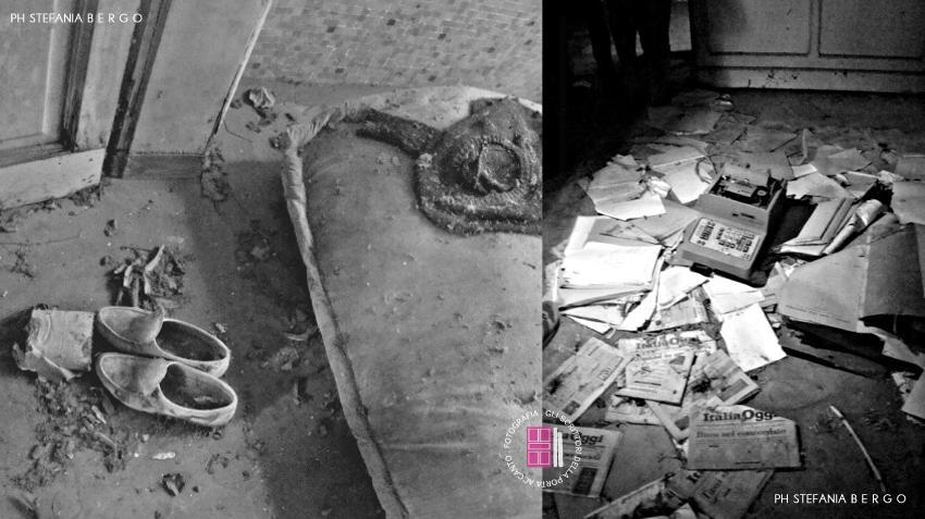Ospedale Psichiatrico di Rovigo: interni, scarpe e documenti abbandonati
