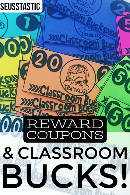 Reward Coupons and classroom bucks