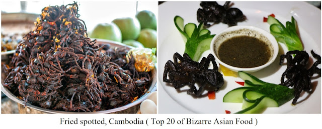 Fried Spotted, Cambodia- top 20 of bizarre asian food