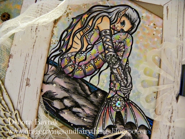 Dragon Wings And Fairy Steampunk Mermaid-dt Card