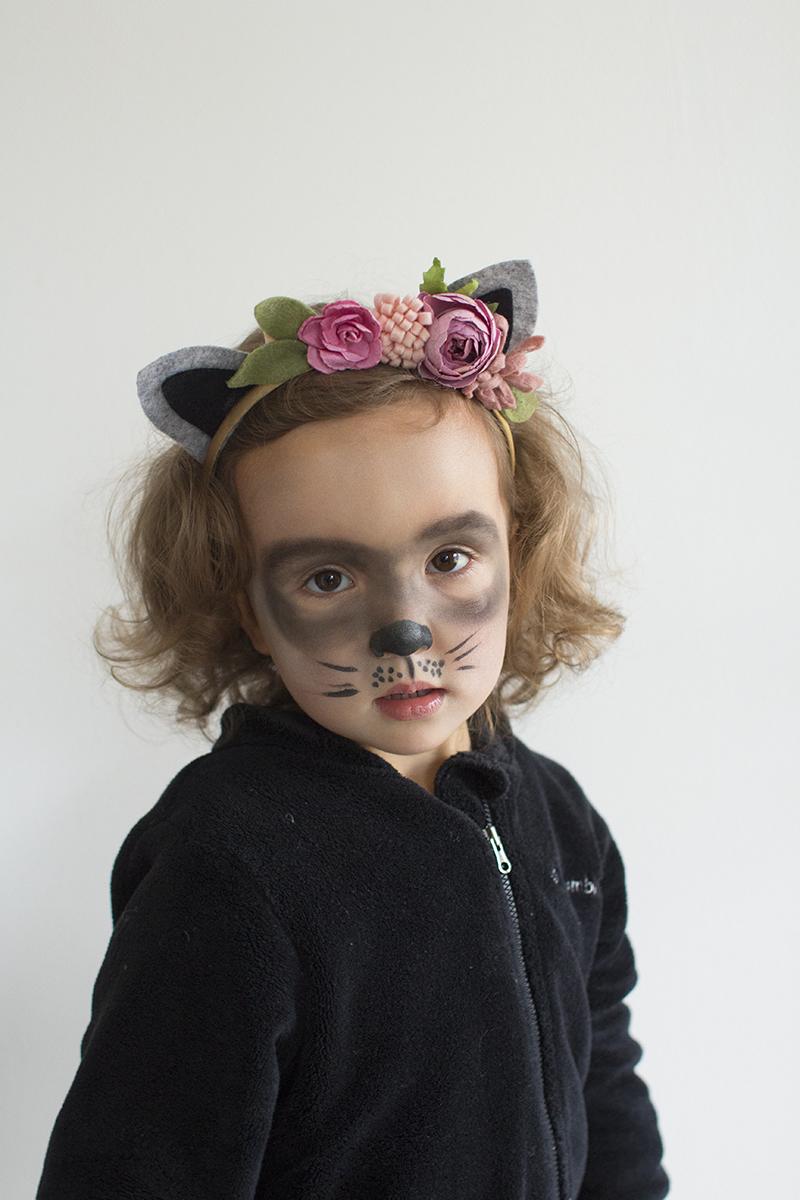 DIY Raccoon toddler costume