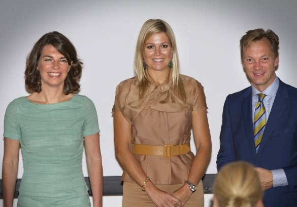 Crown Princess Maxima of The Netherlands attend the conference 'The digital age', a golden age for citizens organized by Spark Optimus