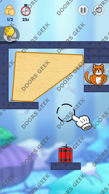 Hello Cats Level 113 Solution, Cheats, Walkthrough 3 Stars for Android and iOS