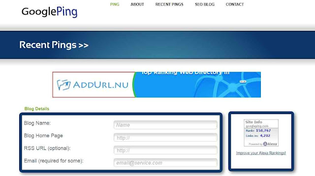 Cara Ping Blog Artikel Secara Otomatis dan Manual