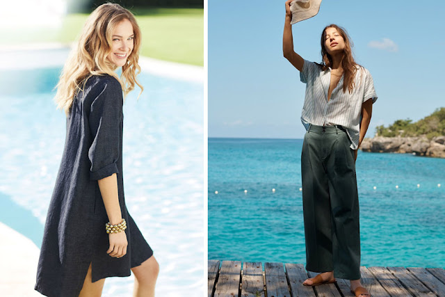 Платье и брюки в натуральном стиле
