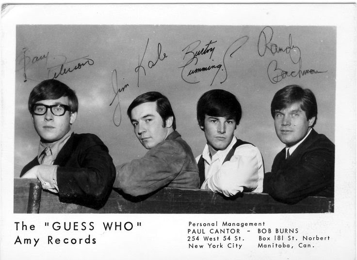 While the Guess Who did have several hits in America, they were superstars in their home country of Canada during the 1960s and early '70s.http://www.jinglejanglejungle.net/2015/01/guess-who.html