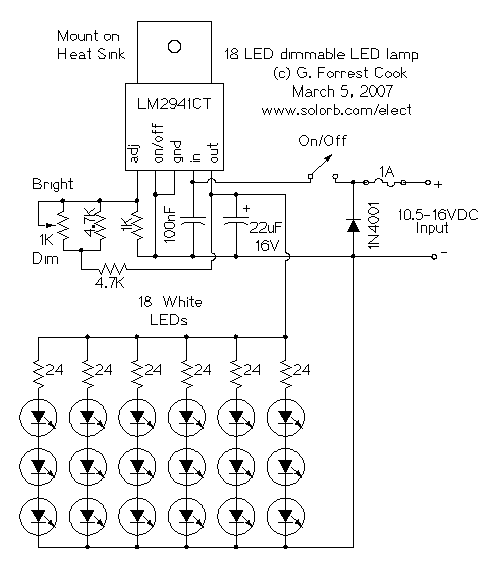 dimmable white led lamp electronic circuits diagram. Black Bedroom Furniture Sets. Home Design Ideas