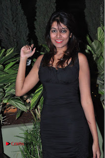 Actress Kavya Kumar Stills in Black Short Dress at F Club pre soft Launch  0023.JPG