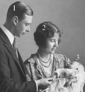 Le duc et la duchesse d'York et la princesse Elizabeth d'York