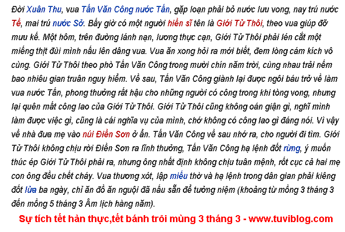 Tet Banh Troi Tet Han Thuc Mung 3 Thang 3