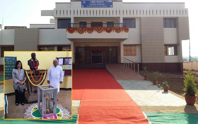 Kiran Mazumdar Shaw and R.V. Deshpande inaugurated the CBD RSETI Ladies Hostel in Haliyal