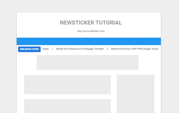 Cara Memasang Widget Newsticker Berjalan di Blog