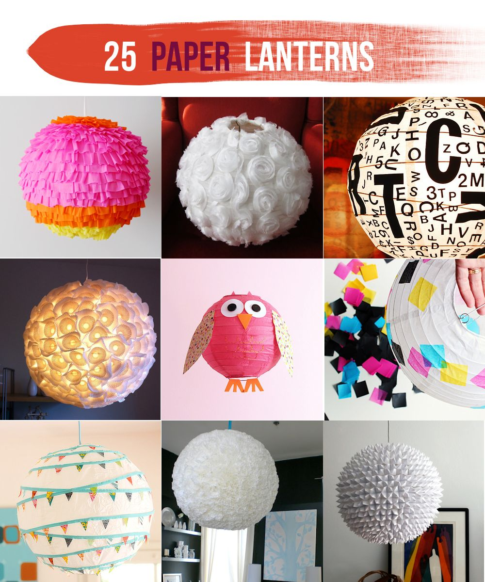25 Paper Lantern Makeovers Lines Across