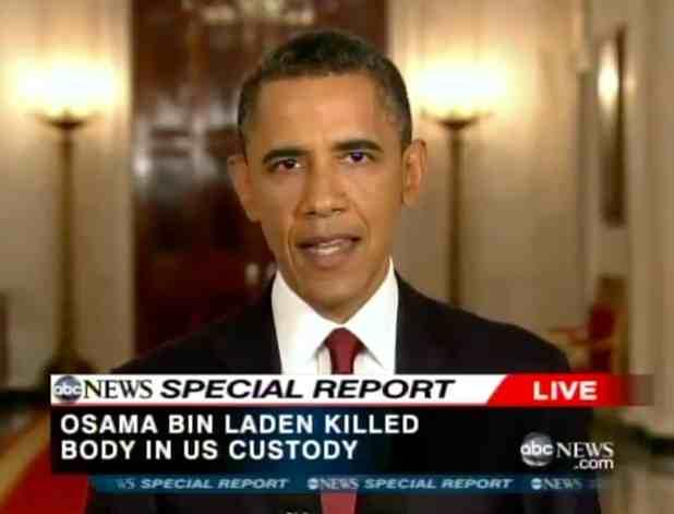 Not Just Sports: Even after Bin Laden's Death, Obama Gets ... Obama Bin Laden Speech