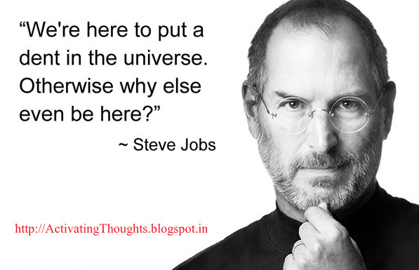Activating Thoughts: Inspiring quotes by Steve Jobs