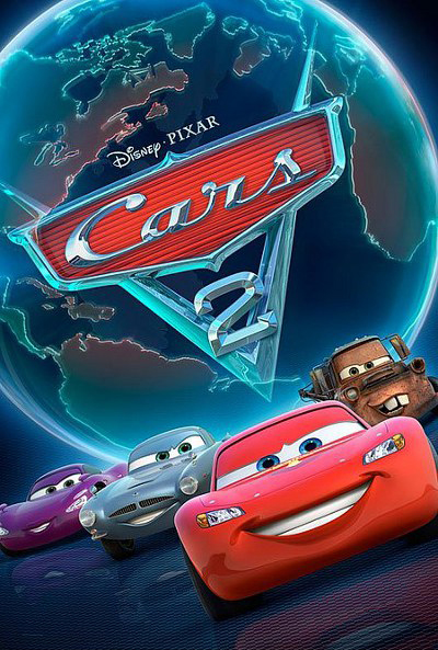 Cartel película de Pixar Animation Studios Cars 2