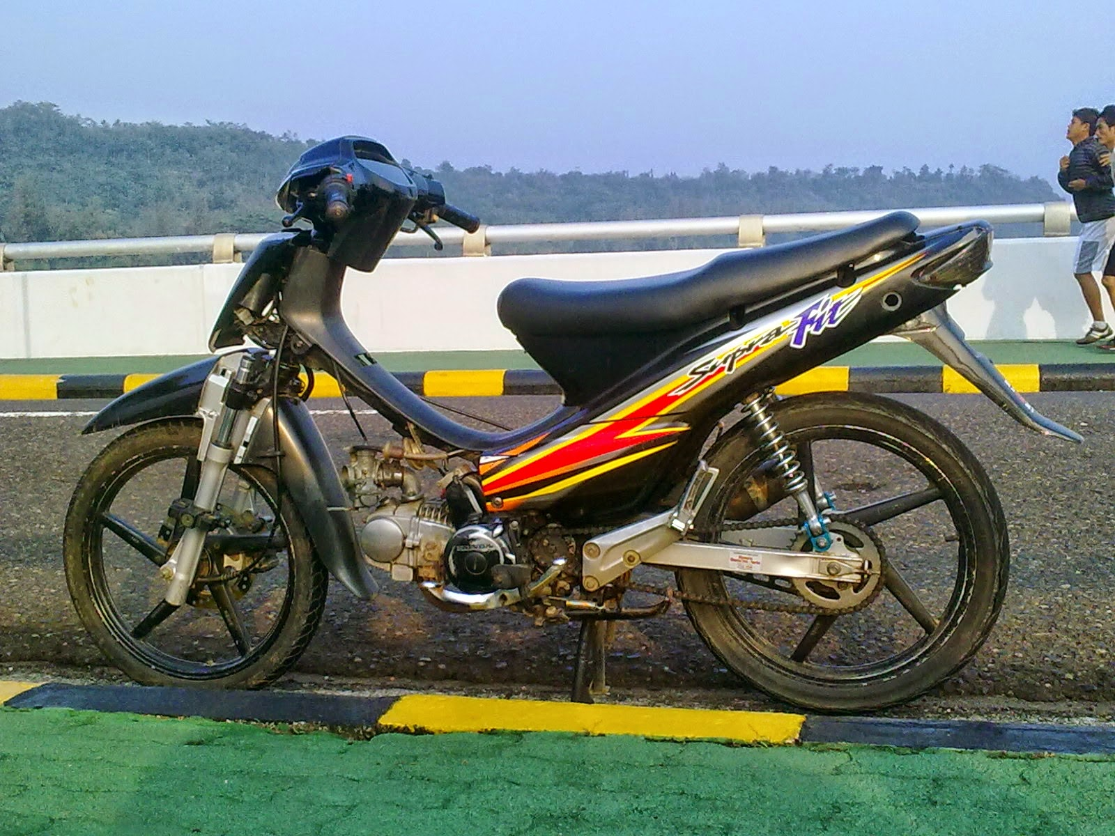 Foto Modifikasi Motor Cross Supra Fit Terkeren Dan Terbaru