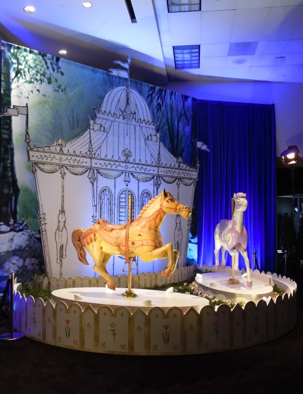 Original Mary Poppins carousel horses props