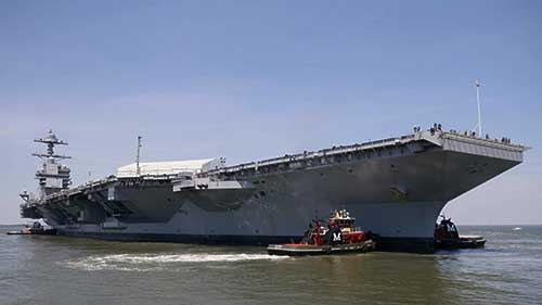 USS Gerald R Ford, ready for commissioning (Source: US Navy)