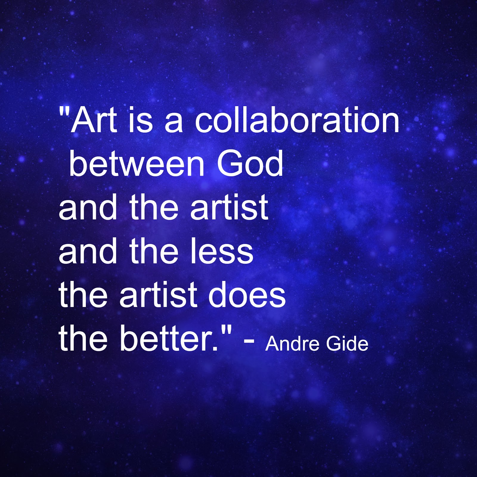 art quote by Andre Gide