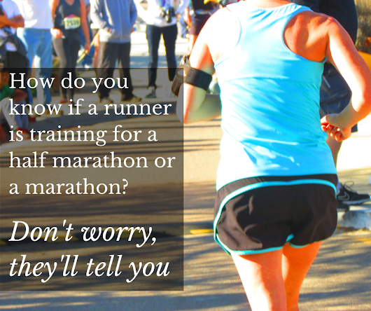 How do you know if a runner is training for a marathon?