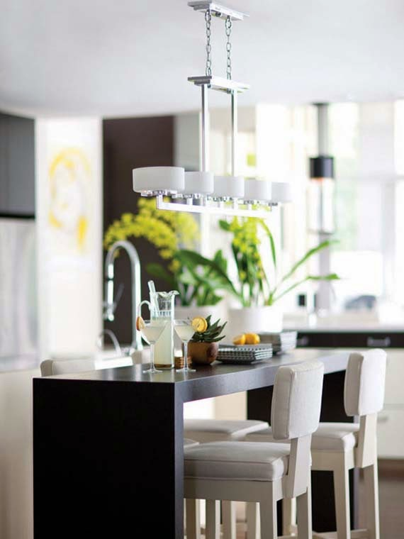 modern flush mount kitchen lighting ideas for our kitchen & Flush Mount Kitchen Lighting Ideas - AyanaHouse