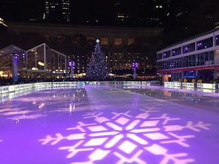 Pista de hielo en Bryant Park de Nueva York