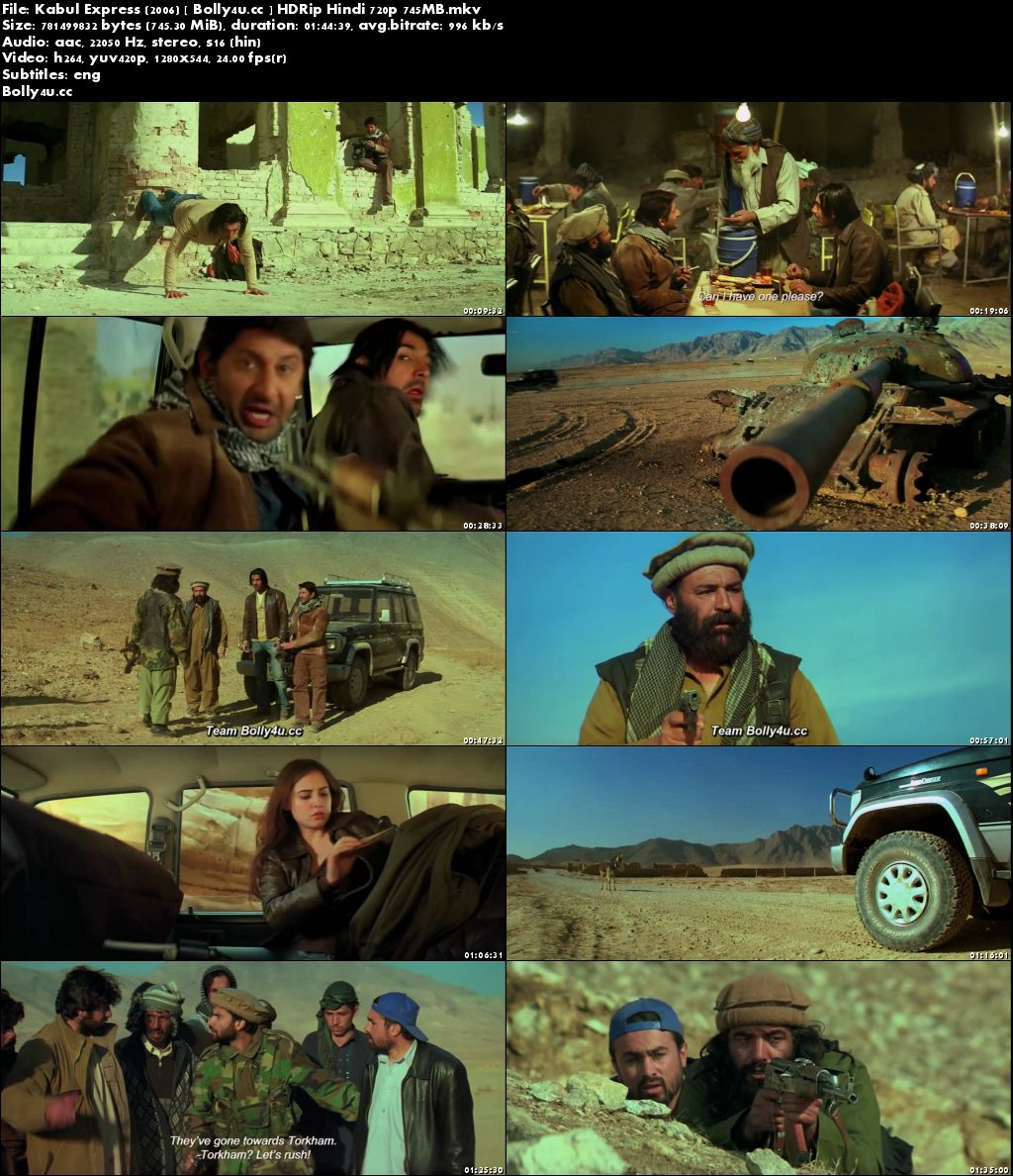 Kabul Express 2006 HDRip 750Mb Full Hindi Movie Download 720p